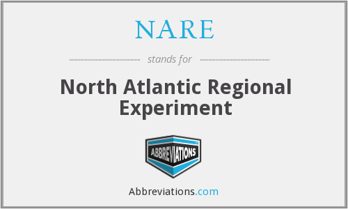 NARE - North Atlantic Regional Experiment