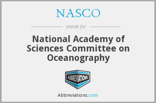 NASCO - National Academy of Sciences Committee on Oceanography