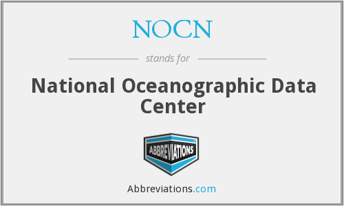 NOCN - National Oceanographic Data Center