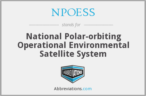 What does NPOESS stand for?