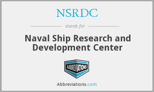 NSRDC - Naval Ship Research and Development Center