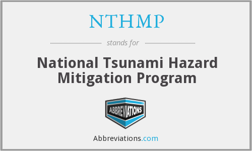 NTHMP - National Tsunami Hazard Mitigation Program