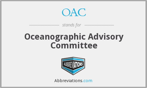 OAC - Oceanographic Advisory Committee