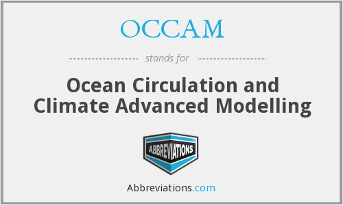 OCCAM - Ocean Circulation and Climate Advanced Modelling