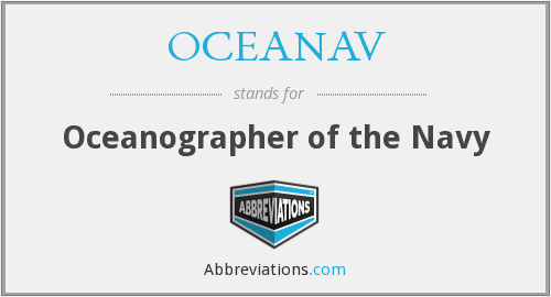 What does OCEANAV stand for?