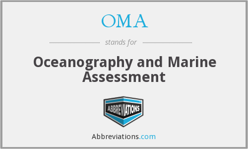 OMA - Oceanography and Marine Assessment