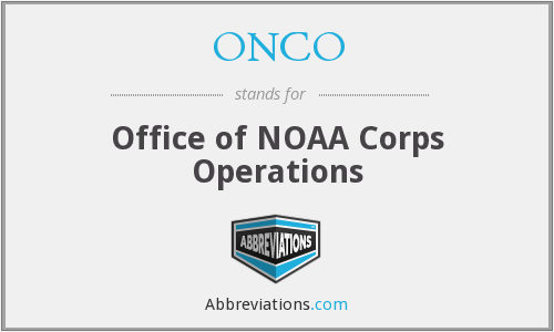 ONCO - Office of NOAA Corps Operations