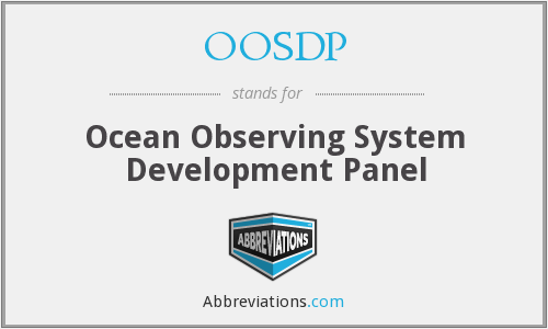 OOSDP - Ocean Observing System Development Panel