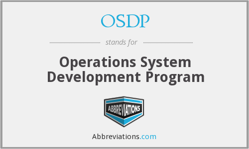 OSDP - Operations System Development Program