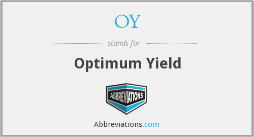 OY - Optimum Yield