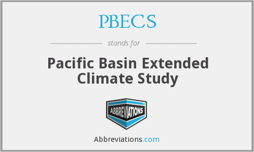 PBECS - Pacific Basin Extended Climate Study