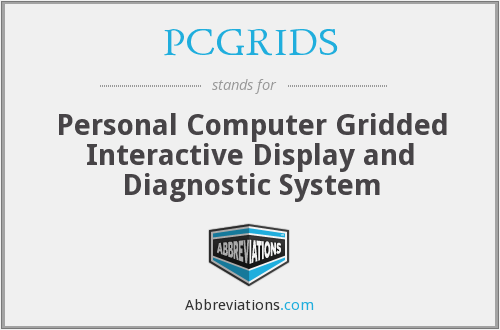 What does PCGRIDS stand for?