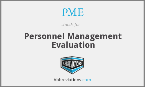 PME - Personnel Management Evaluation