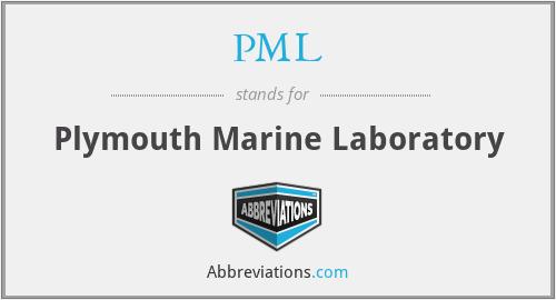 PML - Plymouth Marine Laboratory