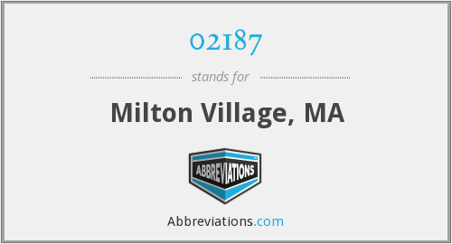 02187 - Milton Village, MA