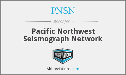 PNSN - Pacific Northwest Seismograph Network
