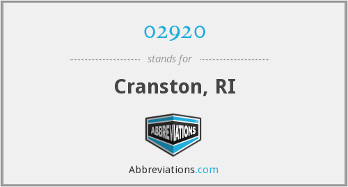 02920 - Cranston, RI