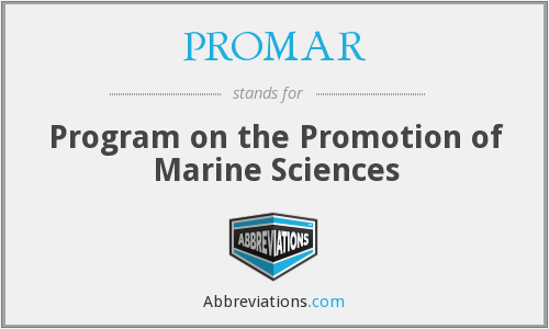 PROMAR - Program on the Promotion of Marine Sciences