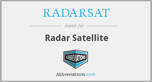 What does RADARSAT stand for?