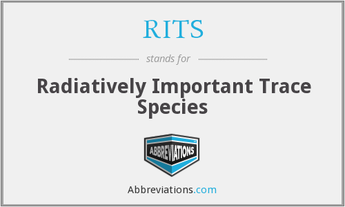 RITS - Radiatively Important Trace Species