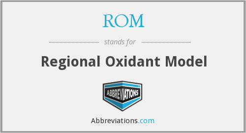 ROM - Regional Oxidant Model