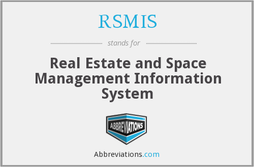 What does RSMIS stand for?