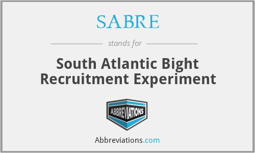 SABRE - South Atlantic Bight Recruitment Experiment