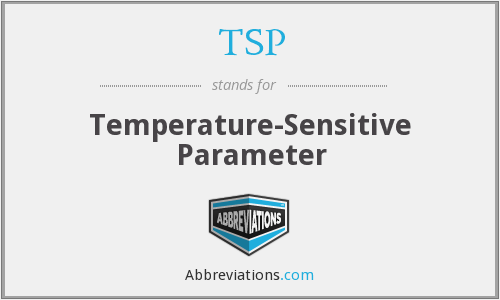 TSP - Temperature-Sensitive Parameter