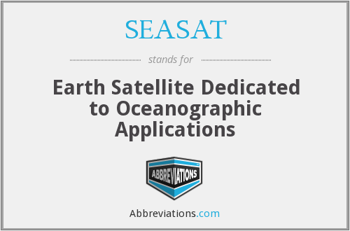 What does SEASAT stand for?
