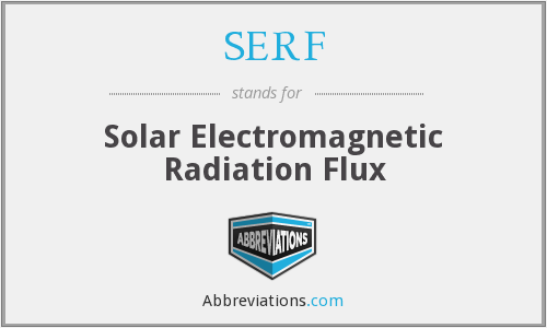 SERF - Solar Electromagnetic Radiation Flux