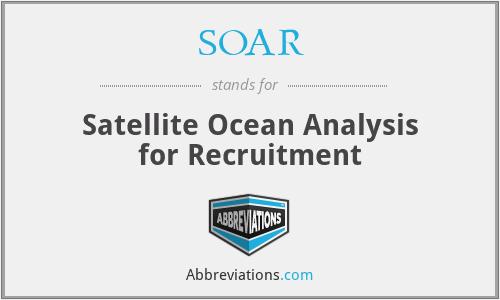SOAR - Satellite Ocean Analysis for Recruitment