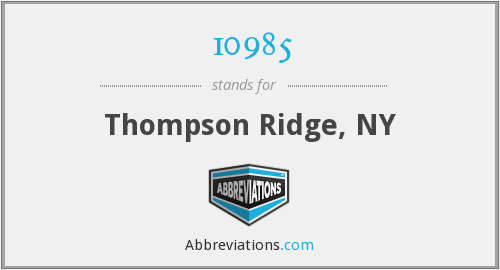 10985 - Thompson Ridge, NY