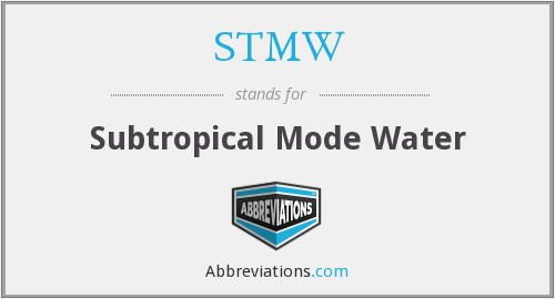 STMW - Subtropical Mode Water