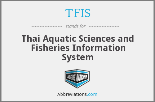 TFIS - Thai Aquatic Sciences and Fisheries Information System