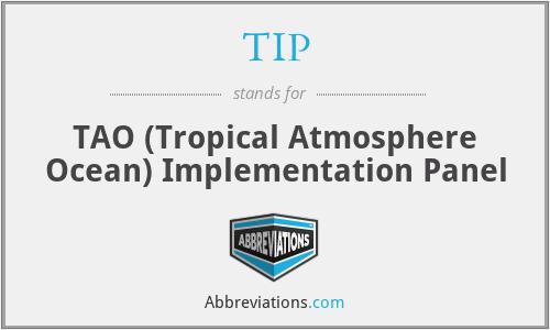 TIP - TAO Implementation Panel