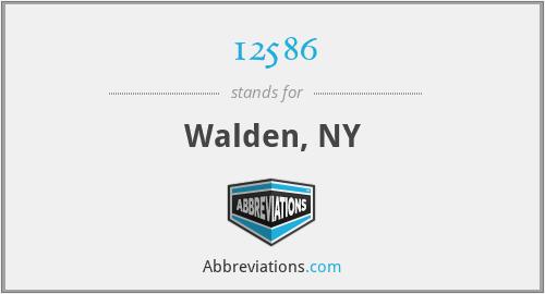 12586 - Walden, NY