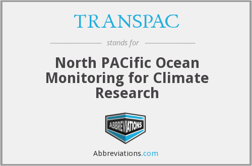 TRANSPAC - North PACific Ocean Monitoring for Climate Research