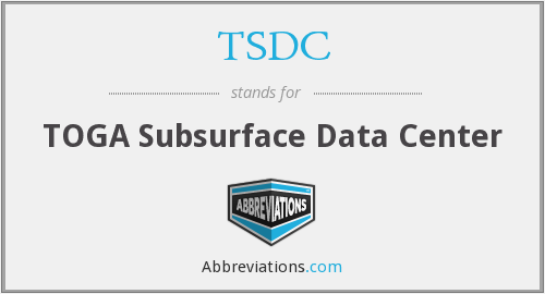 TSDC - TOGA Subsurface Data Center