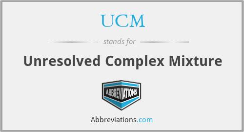 UCM - Unresolved Complex Mixture