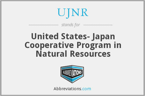 What does UJNR stand for?