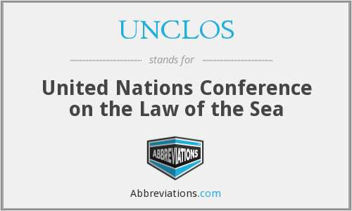What does UNCLOS stand for?