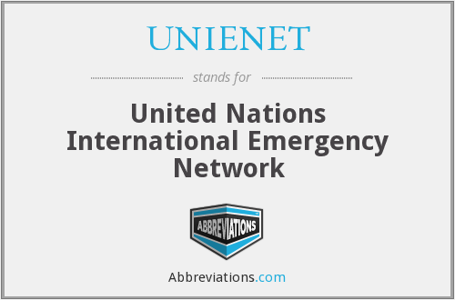 What does UNIENET stand for?