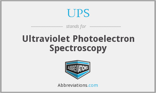 UPS - Ultraviolet Photoelectron Spectroscopy