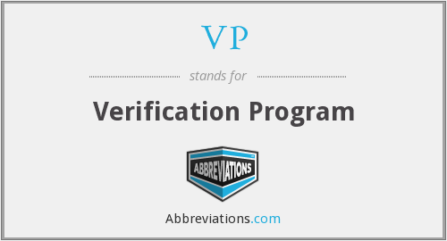 VP - Verification Program