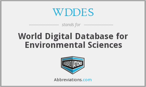 WDDES - World Digital Database for Environmental Sciences
