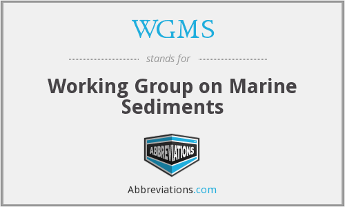 WGMS - Working Group on Marine Sediments