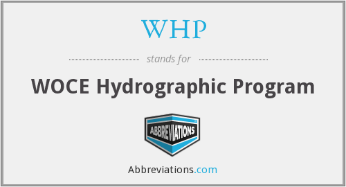 WHP - WOCE Hydrographic Program