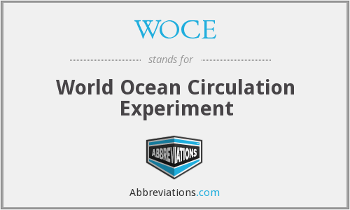 What does WOCE stand for?