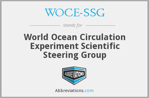 What does WOCE-SSG stand for?