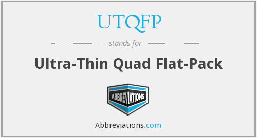 What does UTQFP stand for?
